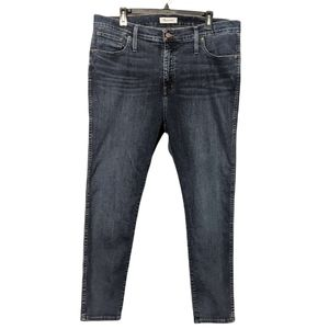 """Plus Size Madewell 10"""" High Rise Skinny Jeans 34P"""